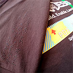 Braille T-shirts for SWACCESS and Manvil